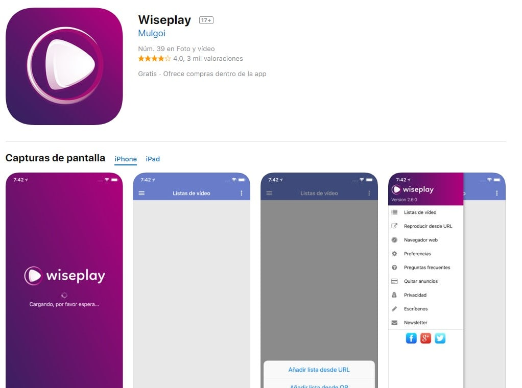 Descargar Wiseplay Iphone